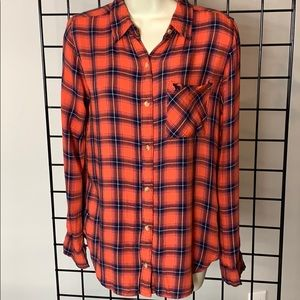Abercrombie & Fitch Viscose Flannel Shirt